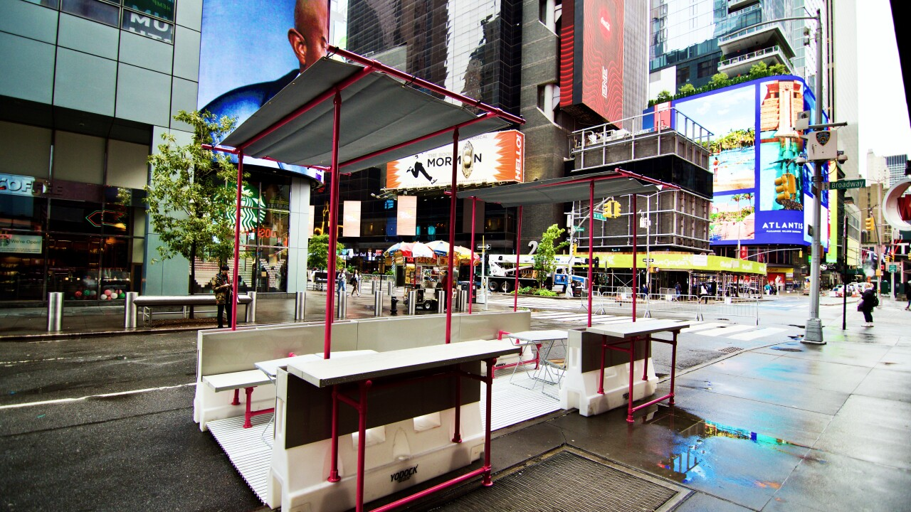 Hollaender produced expanded street dining pilot on Times Square
