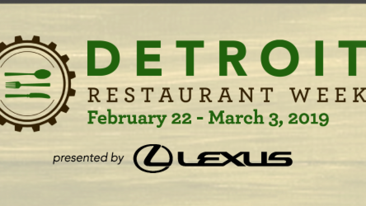 Detroit Restaurant Week 2019