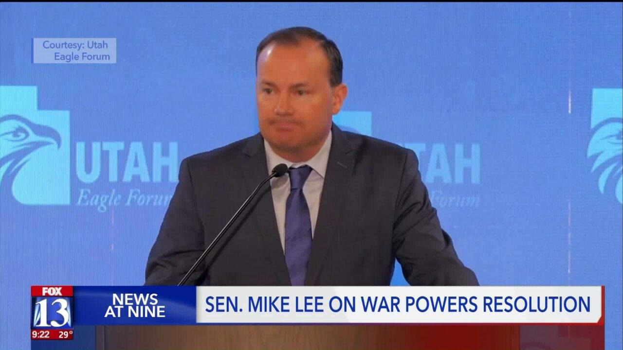 Sen. Mike Lee slams Iran intelligence briefing at Utah EagleForum