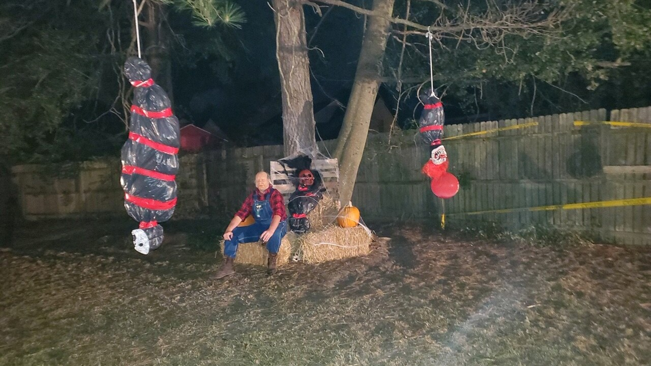 Chesapeake woman says neighbor's Halloween decorations were racially offensive