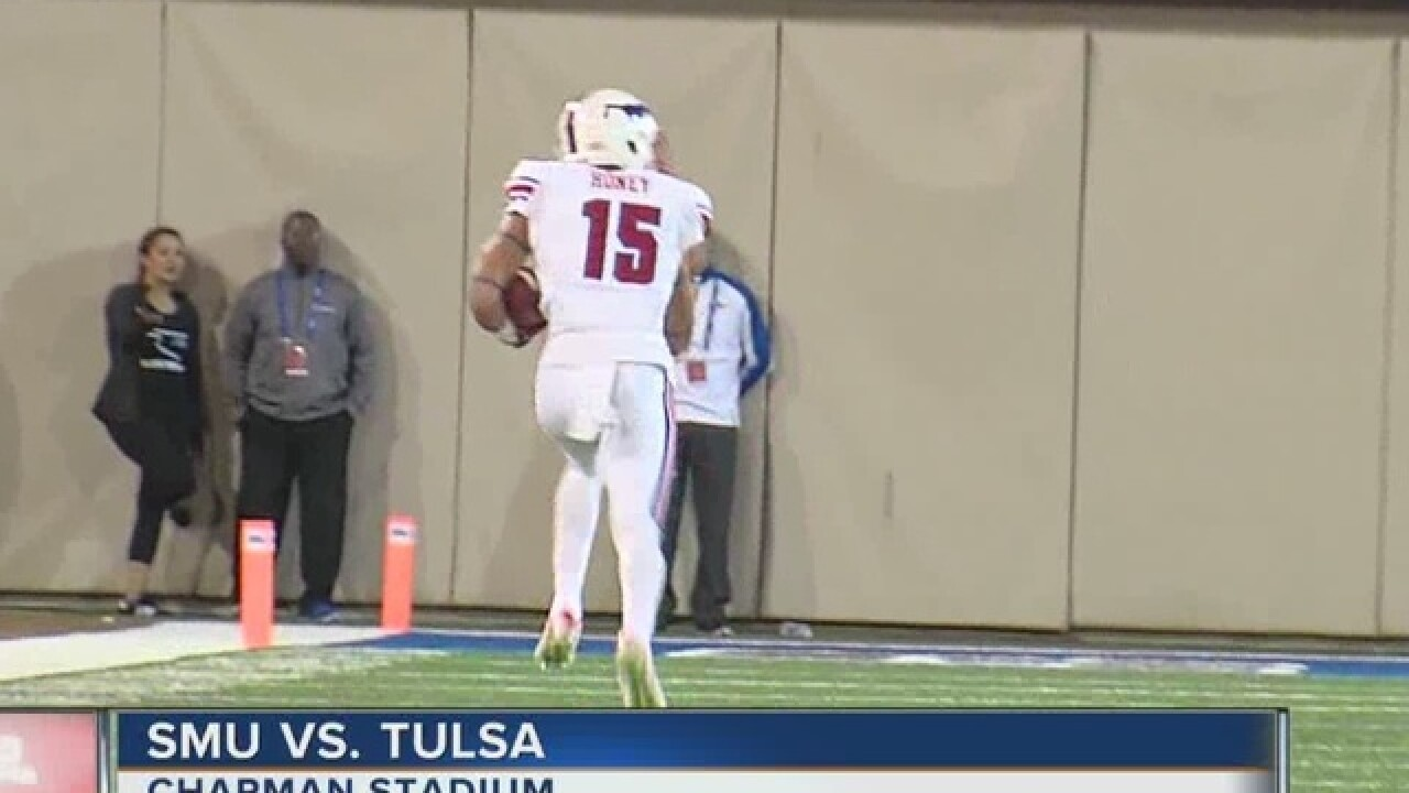 What's happening at the TU/SMU game?