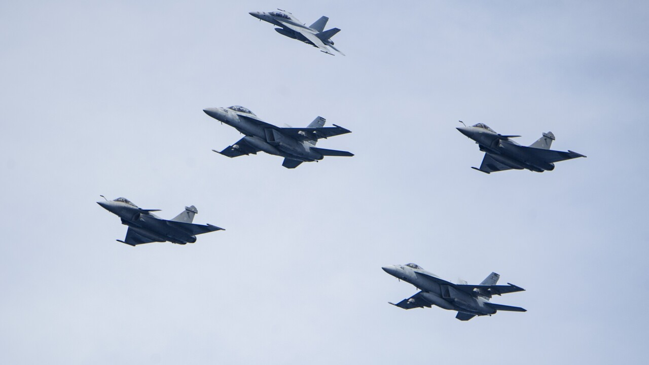F/A-18 Hornets from Naval Air Station Oceana will perform flyover before Chiefs-Texans playoff game