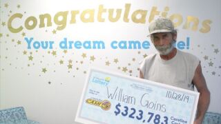 Handyman wins over $300,000 after playing same lottery numbers for 13 years
