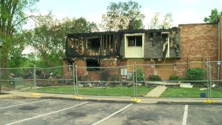 Fairfield Apartment Fire Wide Shot