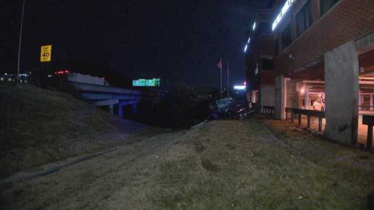 Man Drives Off I-65, Crashes Into Brentwood Office Building