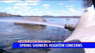 Barry Co. official 'fearful' spring weather may lead to more problems at CrookedLake