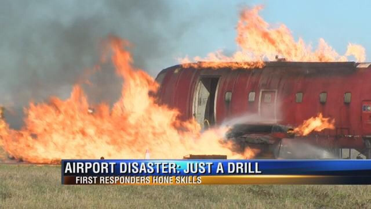 First Responders Go Through Emergency Drill at Tallahassee International Airport