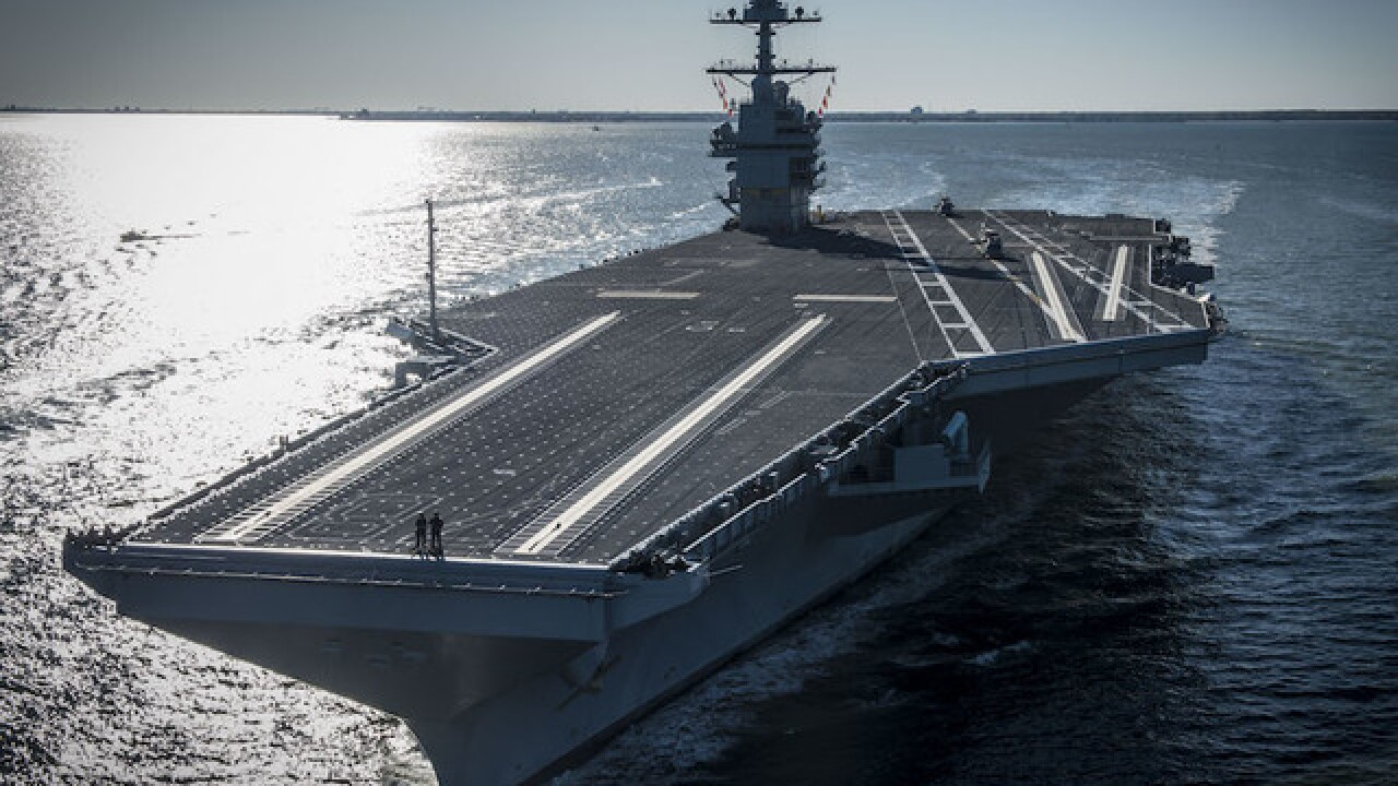 Take a peek at Navy's new $13 billion aircraft carrier