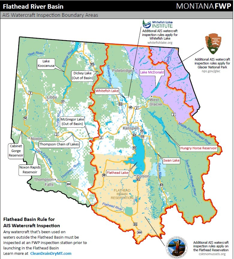 Flathead River Basin Map