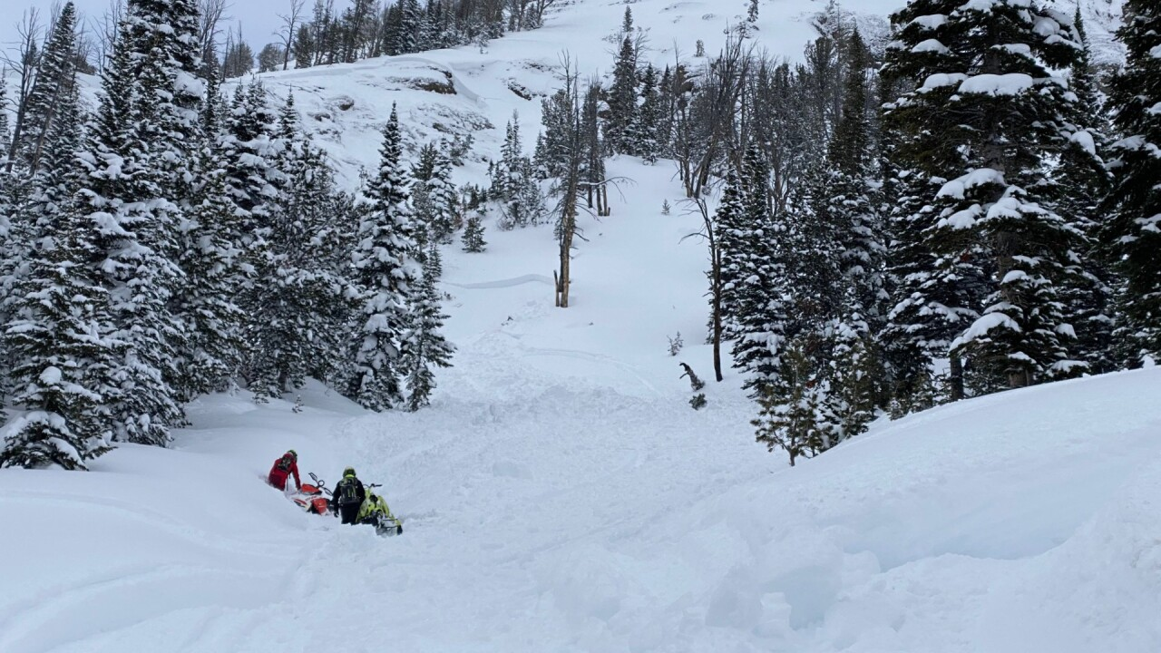 Snowmobiler uninjured after being caught in avalanche near Cooke City on Saturday