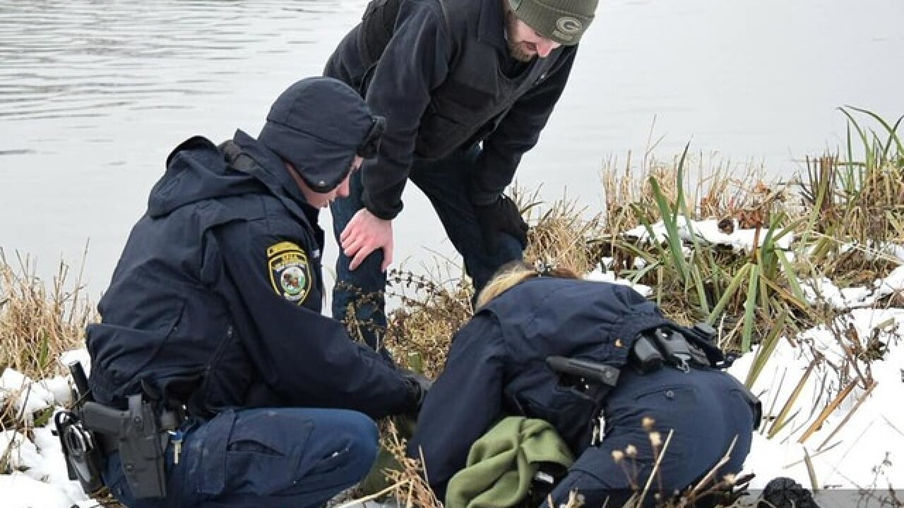 Black swan rescued from Erie Canal