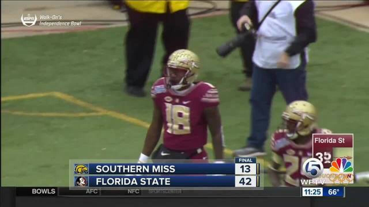 Florida State beats Southern Miss 42-13 in Independence Bowl
