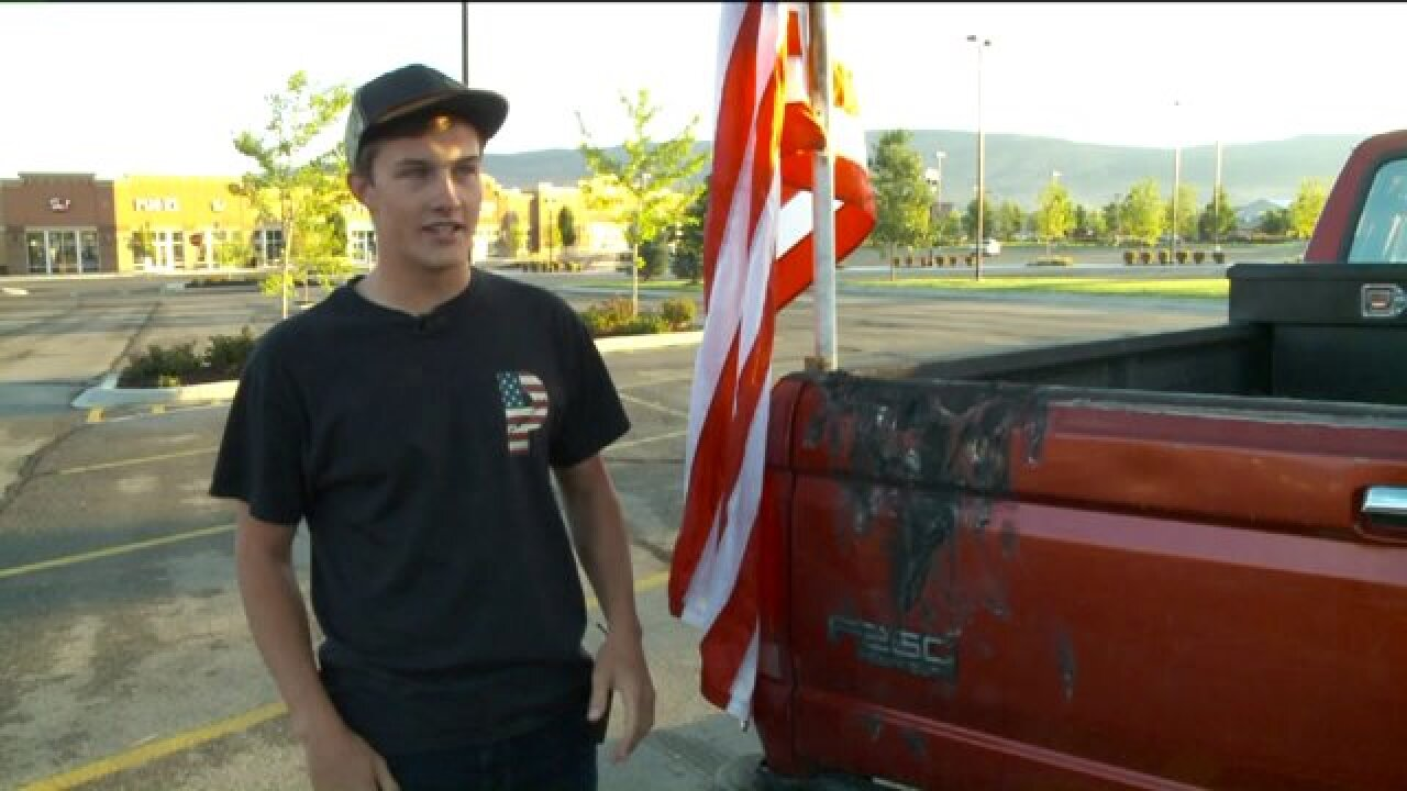 Police investigating flag burning at high school in HeberCity