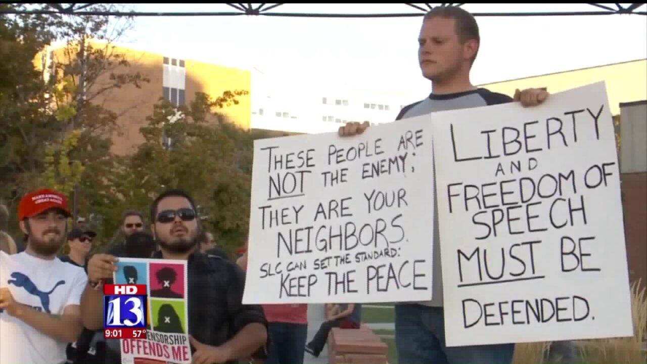 Ben Shapiro speaks at University of Utah amidprotests