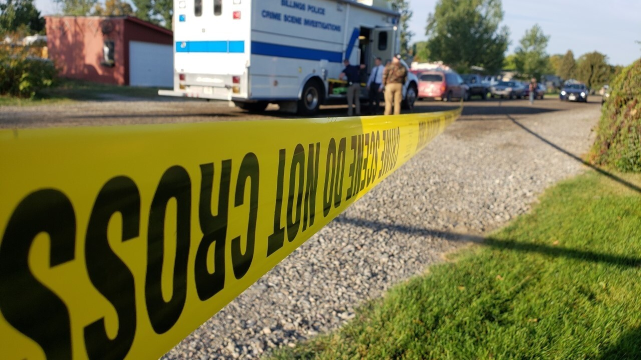 Police say a man was shot dead while assaulting a woman in Billings