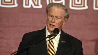 Florida State University President John Thrasher at Mike Norvell's introductory news conference