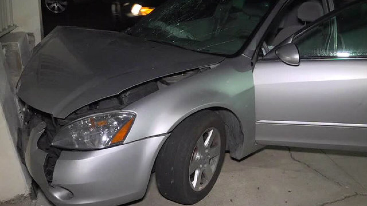 Chase ends in La Jolla after driver hits wall