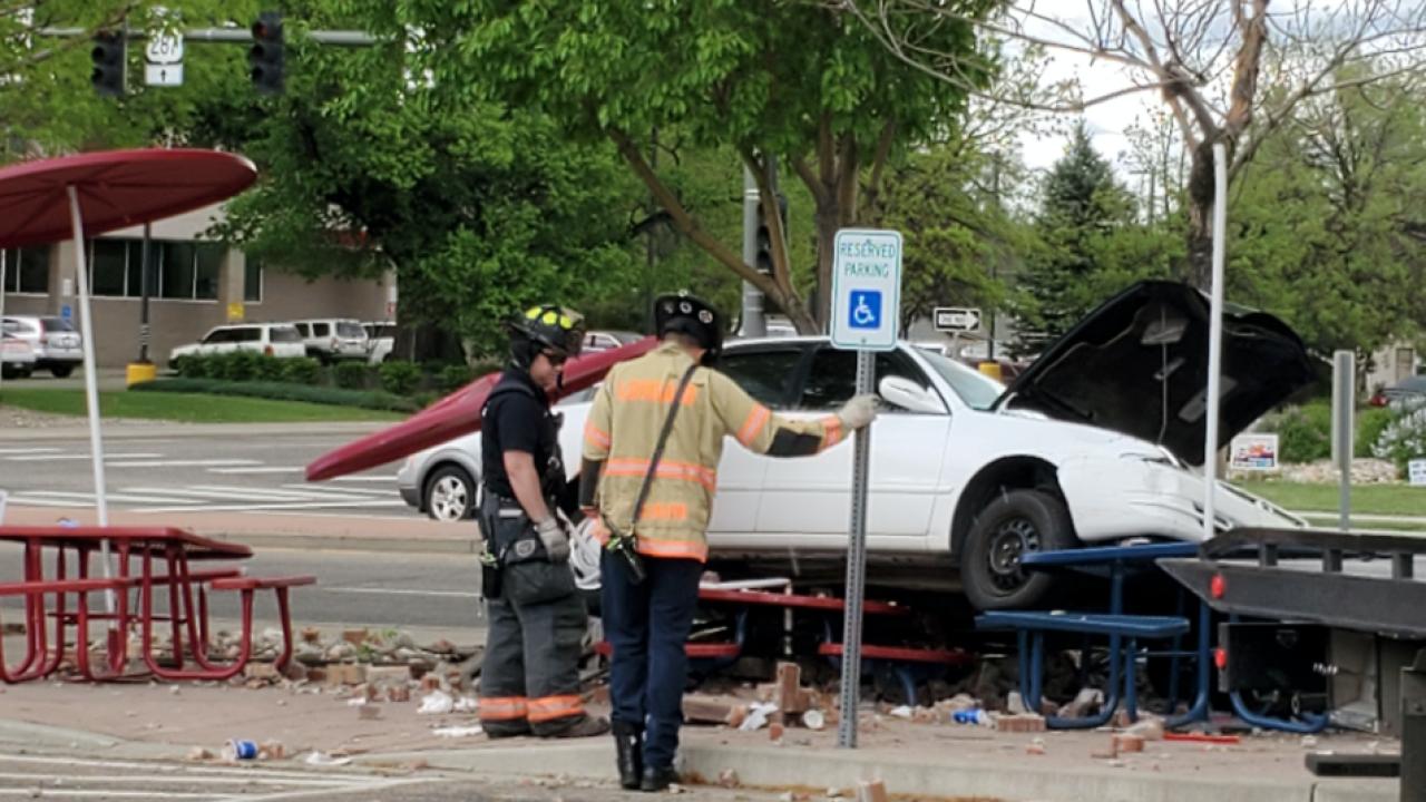 Loveland Police Department: Car crashes into Dairy Queen picnic area
