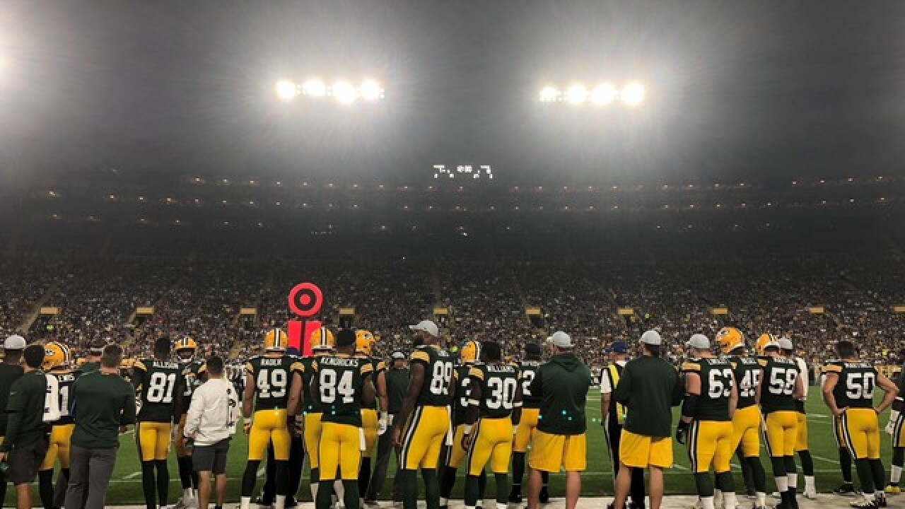 Packers move practice indoors due to inclement weather