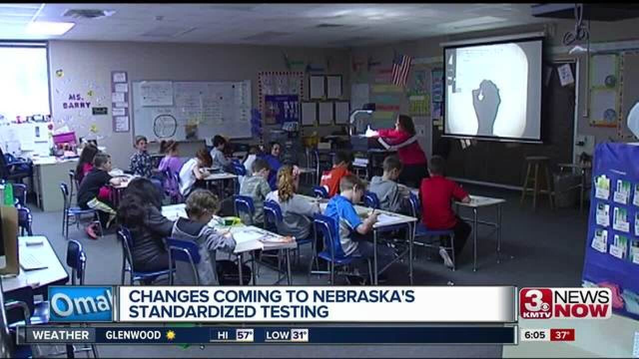 NDE: replaces NeSA with new standardized test