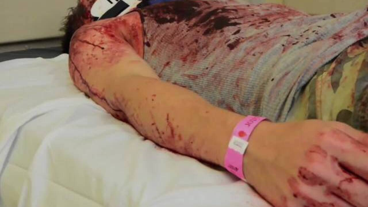 VIDEO | Doctors tested by Baltimore actors, makeup artists at Shock Trauma