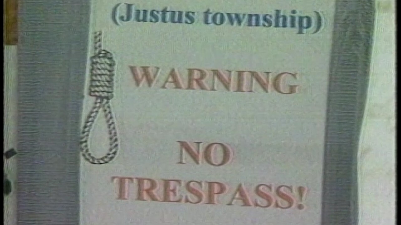 sign in Justus Township garfield co.jpg
