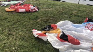 Caught on video: Christmas scrooge leaps into yard, destroys giant inflatables