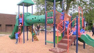 Rebuilt Sigsbee Park playground dedicated at Eastownceremony