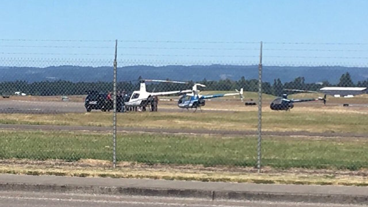 Police kill gunman trying to steal helicopter at Oregon airport