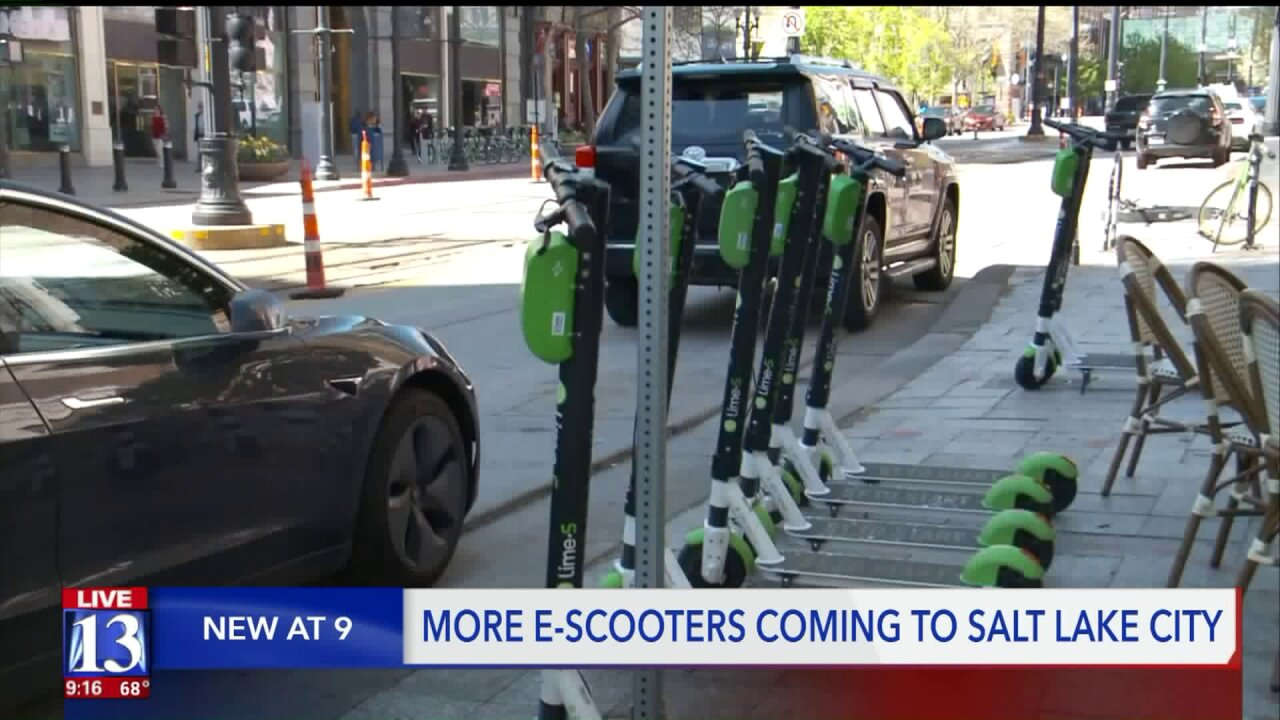 Third electric scooter company drops in SLC