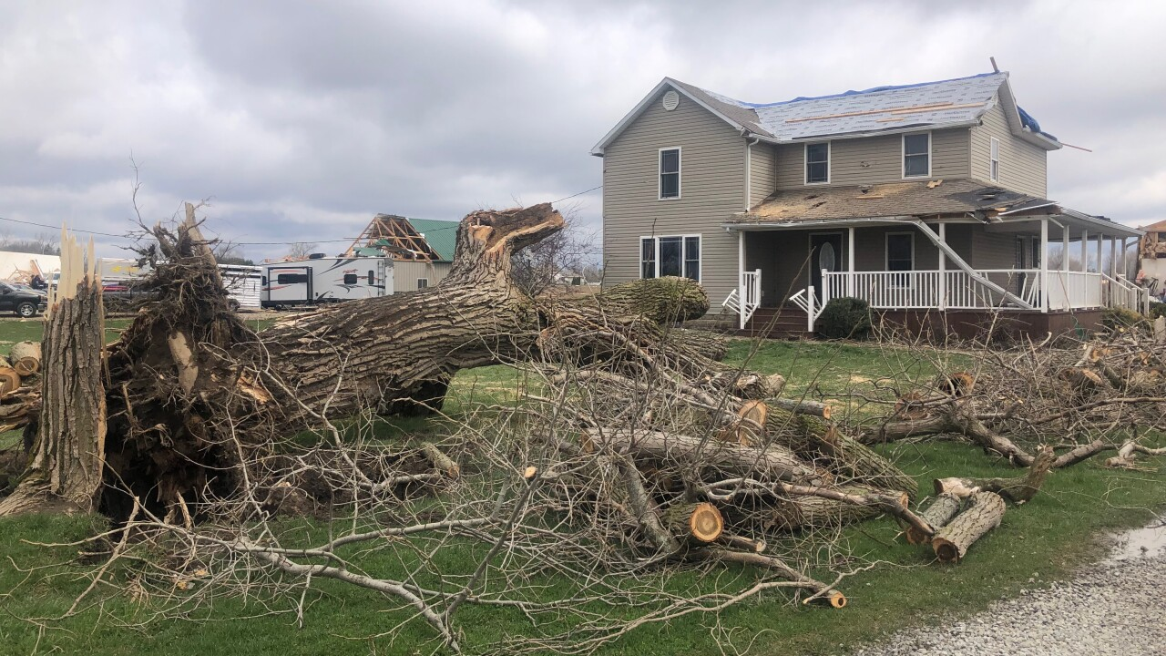 Richland County tornado damage