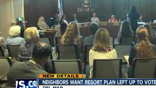 neighbors want resort plan left up to voters