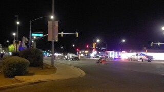 A motorcycle rider was hospitalized with life-threatening injuries Thursday night.