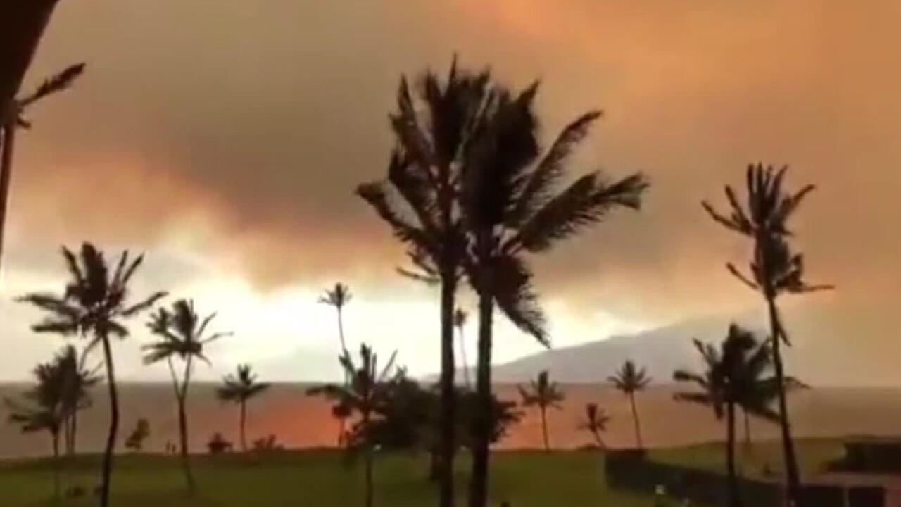 Maui Hawaii brush fire