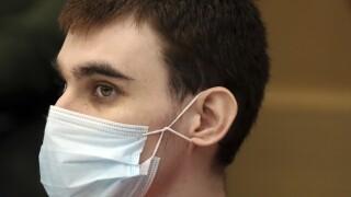 Nikolas Cruz closeup in mask, July 14, 2021