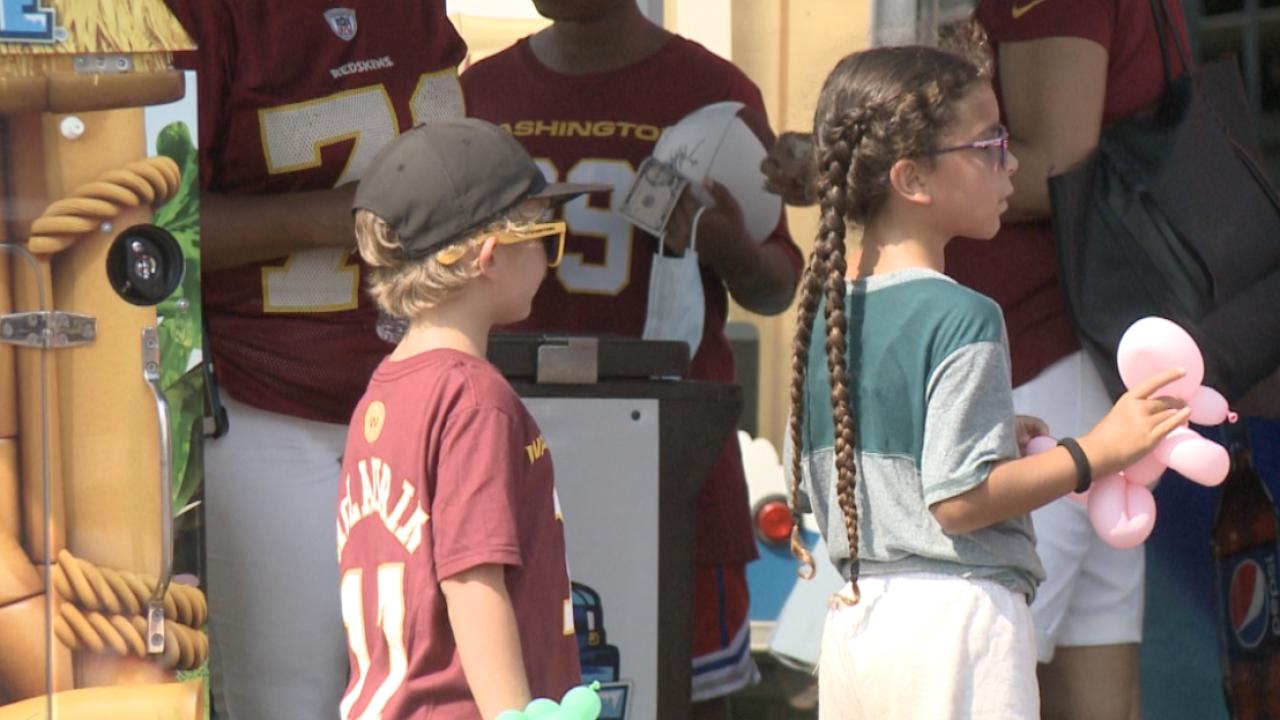 Kids Day at Washington Football Team training camp