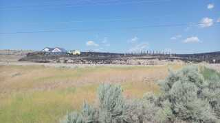 Idaho Highway 16 fire