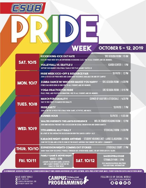 Pride Week at CSUB