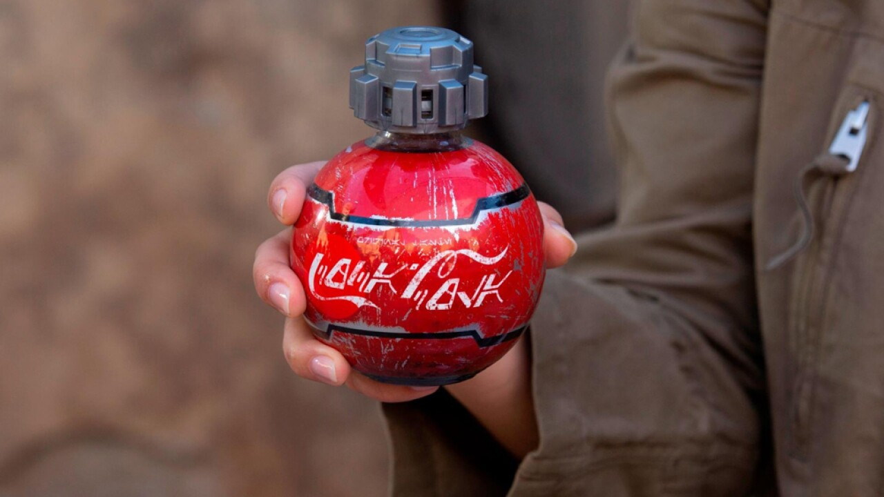 Disney and Coca Cola partnered to make these specialty soda cans for the new Star Wars land.