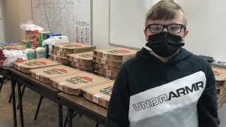 Pizza donated to street crews