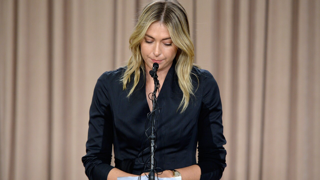 Tennis star Maria Sharapova admits to failing drug test
