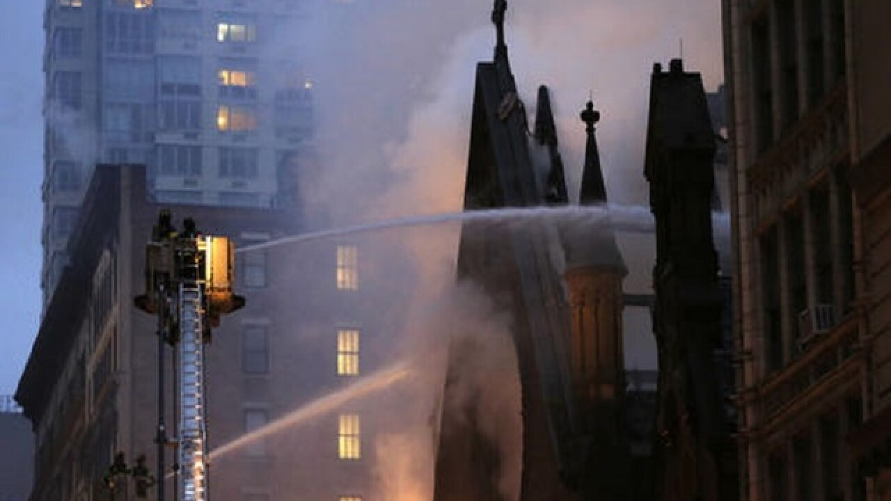 New York City church heavily damaged by fire