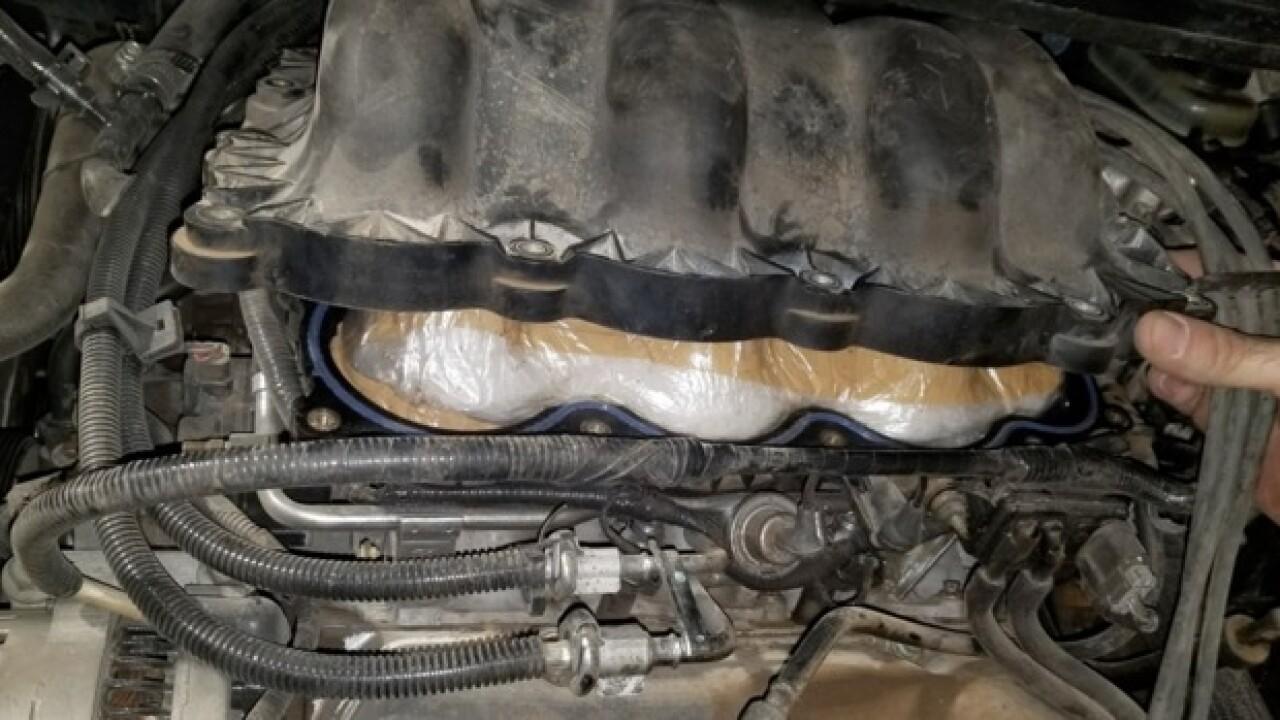 Border Patrol finds meth in van's engine