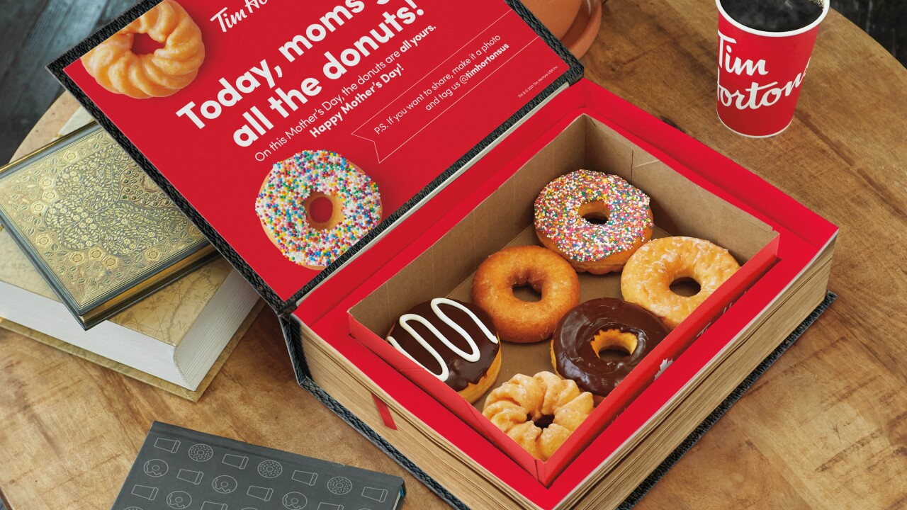 """Tim Hortons unveils """"Donut Disguise Boxes"""" for Mother's Day"""