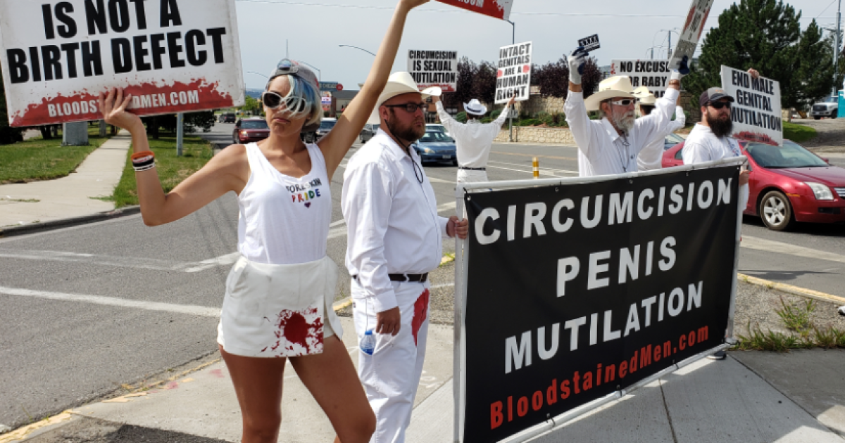 Anti-circumcision group stages protest in Billings