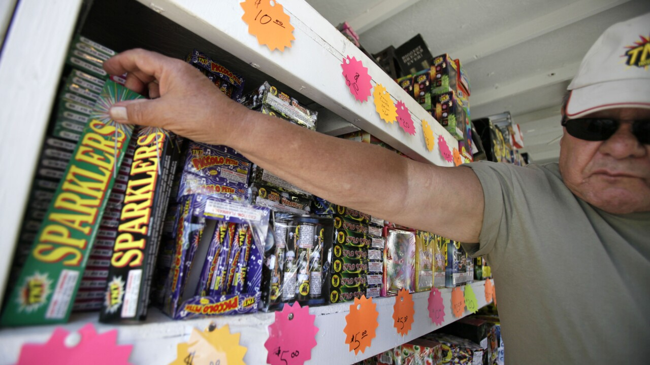 10,000 injured a year by fireworks, sparklers a huge culprit