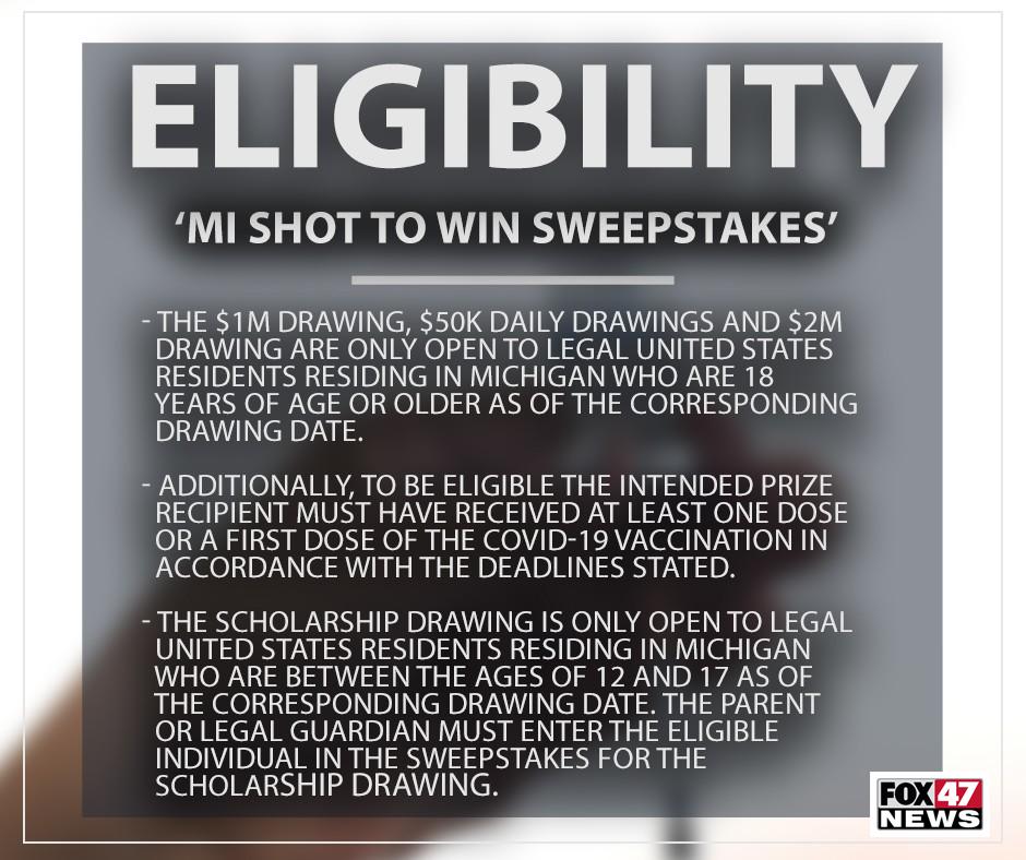 MI Shot to Win Sweepstakes Eligibility