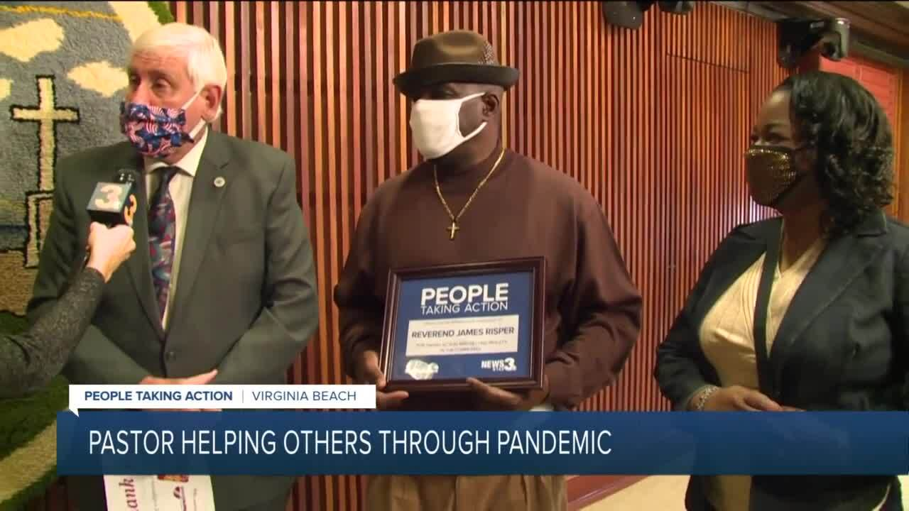 Pastor James Risper recieves People Taking Action award.jpg