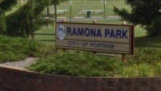 Ramona Park Beach sign