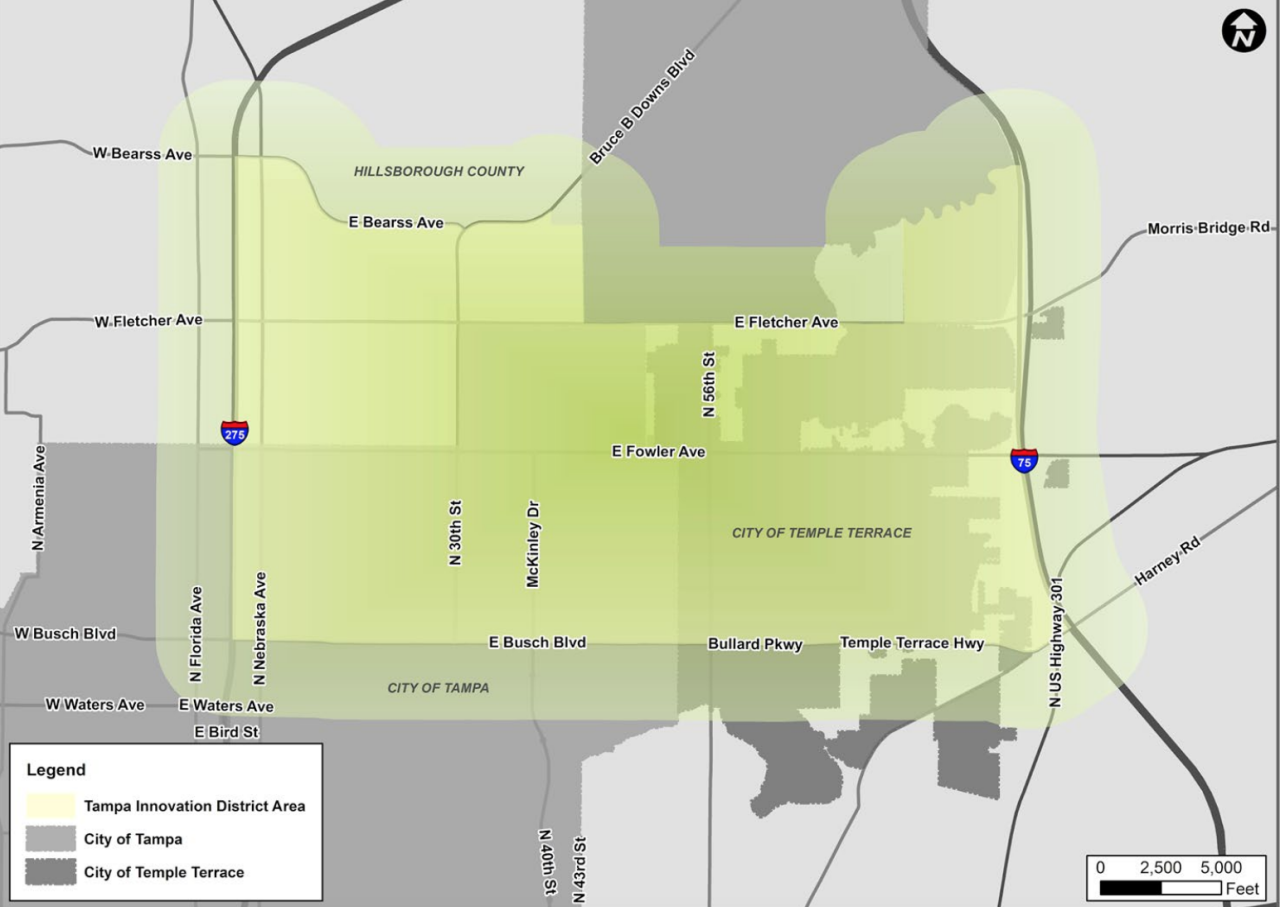 Map of Uptown Strategic Action Plan